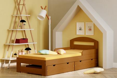 säng med lådor för barn